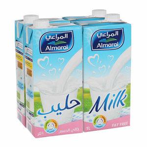 Almarai UHT Fat Free Milk 4x1L