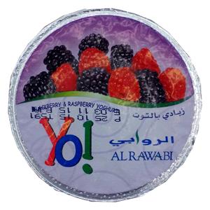 Al Rawabi Yo! Blackberry and Raspberry Yoghurt 170g