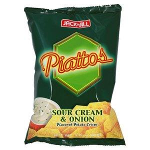 Jack&Jill Piattos Sour Cream And Onion Potato Chips 85g