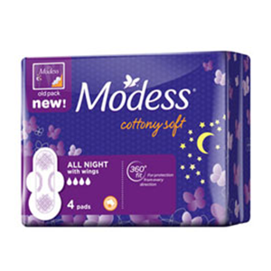 Modess All Night with Wings 4pc