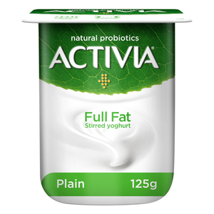 Activia Pure Full Fat Stirred Yoghurt 125g