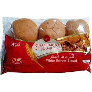 Royal Bakery White Burger Buns 6pc