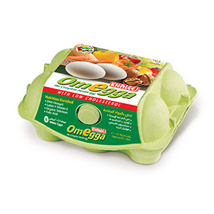 Khaleej Omegga Brown Eggs 6pcs