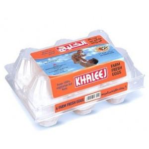 Khaleej White Eggs Large 6pcs