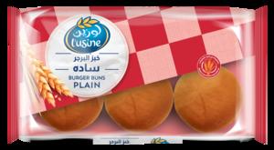 Lusine Plain Burger Buns 6pc