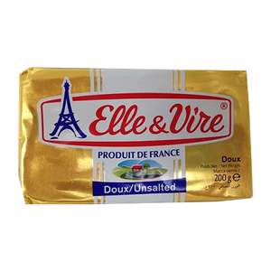 Elle & Vire Unsalted Butter 200g