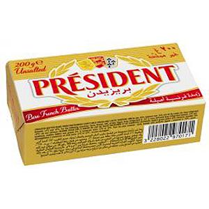 President Unsalted Butter 200g