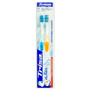 Trisa Flexible Medium Toothbrush 2pc