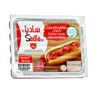 Sadia Chicken Franks Hot And Spicy 340g