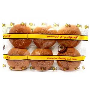 Golden Spike Hamburger Bun Sesame 6pc