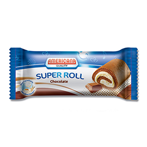 Americana Super Roll Chocolate 60g