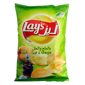 Lays Potato Chips Salt & Vinegar 40g