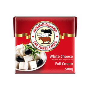 The Three Cows White Cheese Red Block 500g
