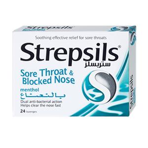 Strepsils Menthol Logenzes 24pcs