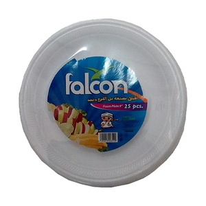 Falcon Retail Foam Plate 9 Inch 25pc