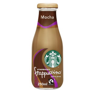 Starbucks Frappuccino Mocha Chocolate Flavour Lowfat Coffee Drink Bottle 250ml