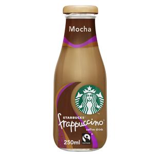 Starbucks Frappuccino Mocha Chocolate Flavour Lowfat Coffee Drink Bottle 250ml