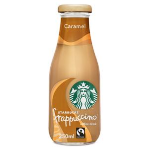 Starbucks Frappuccino Caramel Flavour Lowfat Coffee Drink Bottle 250ml