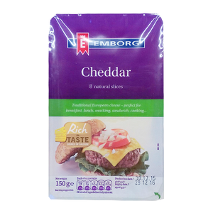 Emborg Cheddar Cheese Slices 150g