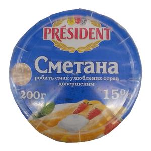 President Sour Cream 15% 200gm