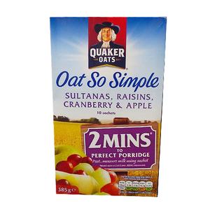 Quaker Oat So Simple Sultanas, Raisins, Cranberry and Apple 385g