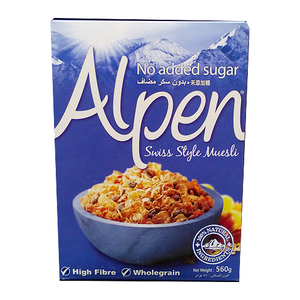 Alpen Muesli No Added Sugar 560g