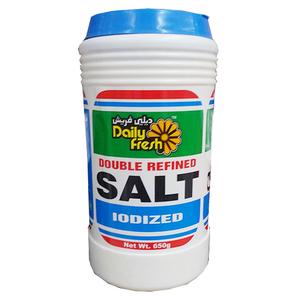 Daily Fresh Double Refined Salt 650g