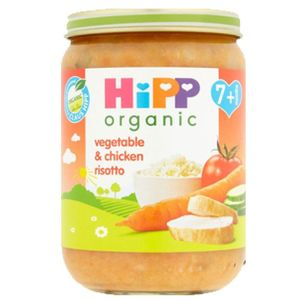 Hipp Organic Baby Food Vegetable And Chicken Risotto 7+ Months 190g