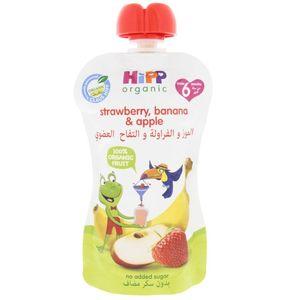 Hipp Organic Baby Food Apple Strawberry & Banana (4+ Months) 100g