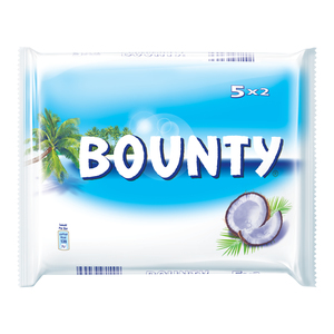 Bounty Milk Chocolate Bars Multipack 5x57g
