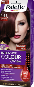 Palette Cream Hair Dye For Women, Intensive Dark Red 50ml