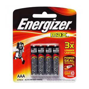 Energizer Max Alkaline AAA Battery 4s
