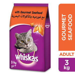 Whiskas Gourmet Seafood Dry Cat Food Adult 1+ Years 3kg
