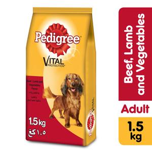 Pedigree Small Breed Beef Lamb & Vegetables Dry Dog Food Adult 1.5kg