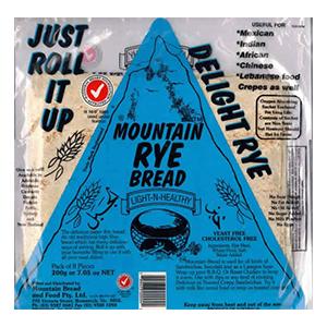Mountain Bread Rye 200g