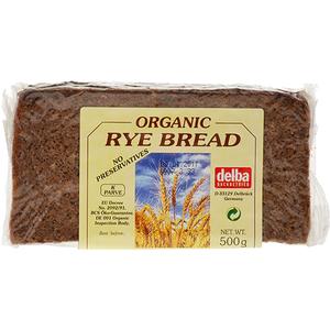 Delba Organic Rye Bread 500g