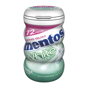 Mentos White Chewing Gum Spearmint Sugar Free 102.96g