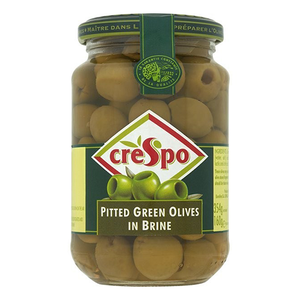 Crespo Pitted Grn Olives Jar 160gm