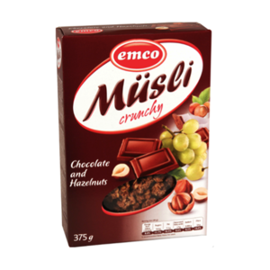 Emco Crncy Musil W/ Chocolate&H/Nuts 3 375gm