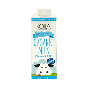 Koita Organic Whole Milk With Vitamin 250ml