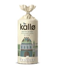 Kallo Organic Lightly Salted Rice Cakes 130g