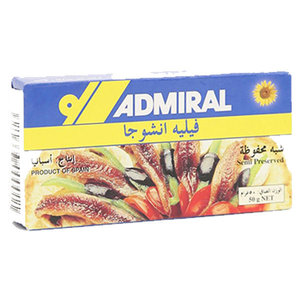 Admiral Anchovey Fillet 50g