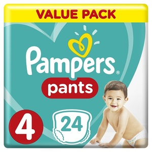 Pampers Pants Diapers Size 4 Maxi 9-14 Kg Carry Pack 24 pcs