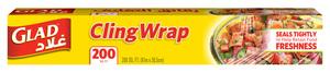 Glad Cling Wrap 200 Sqft 12pc