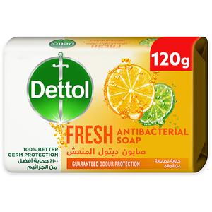 Dettol Fresh Anti-Bacterial Bathing Soap Bar Citrus & Orange Blossom Fragrance 120g