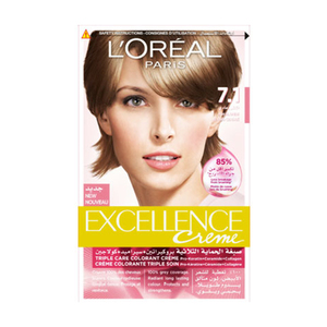 L'oreal Paris Excellence Hair Color Light Blonde 7.1 1set