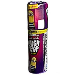 Bazooka Push Pop Black Current Strawberry Candy 15g