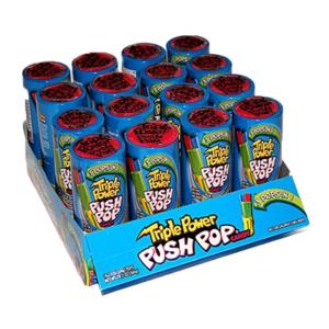 Bazooka Candy Push Pop 34gm