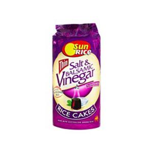 Sunrice Rice Cakes Salt And Vinegar 195g