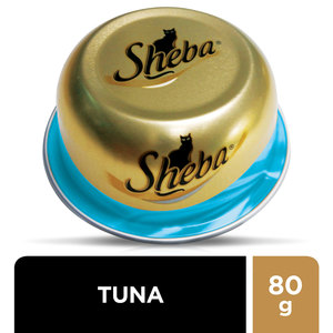 Sheba Dome Prime Cuts of Tuna Wet Cat Food Can 80g